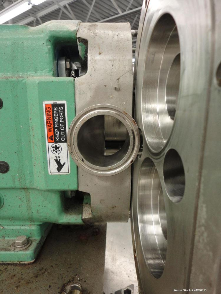 Used- Stainless Steel Waukesha Rotary Positive Displacement Pump, Model 060