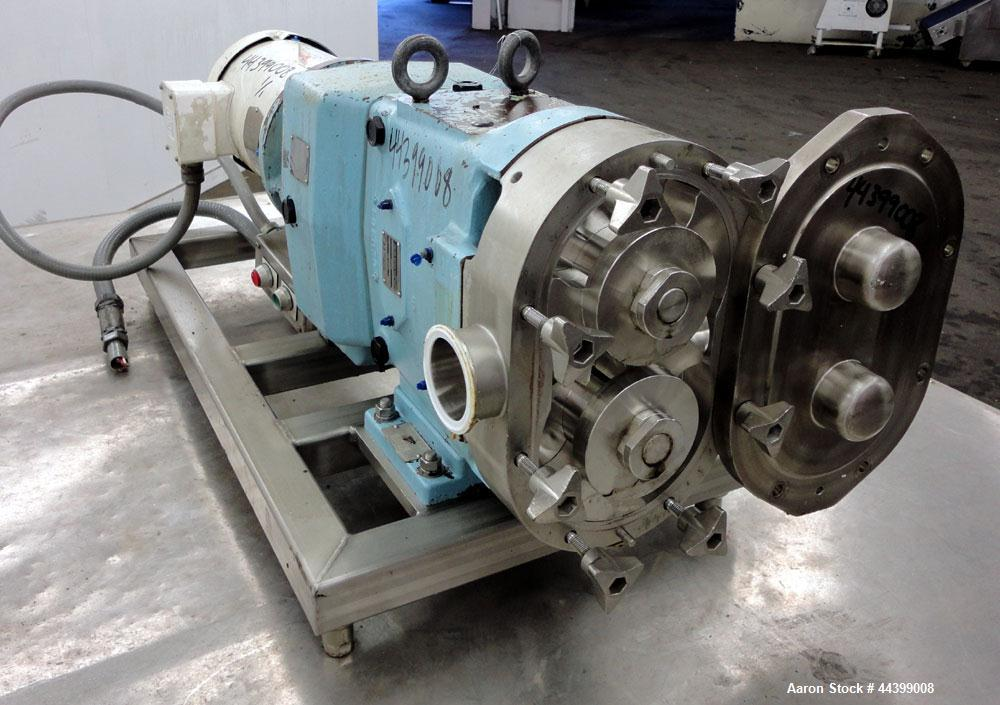 Used- Stainless Steel Waukesha Positive Displacement Pump, Model 060