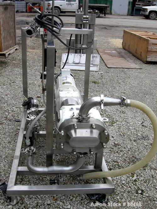 USED: Waukesha SP universal rotary positive displacement pump, model 060U2, 316 stainless steel. (2) Stainless steel rotors,...