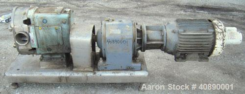 Used- Stainless Steel Waukesha Positive Displacement Pump, model 220