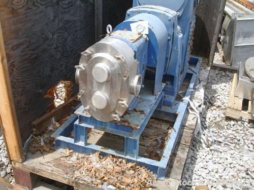 Used- Waukesha Universal Rotary Positive Displacement Pump, Model 220, Stainless Steel. Approximately 260 gallons per minute...