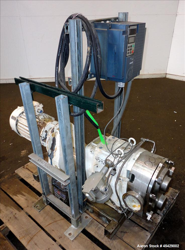 Used- Stainless Steel Waukesha Positive Displacement Pump, Model 223
