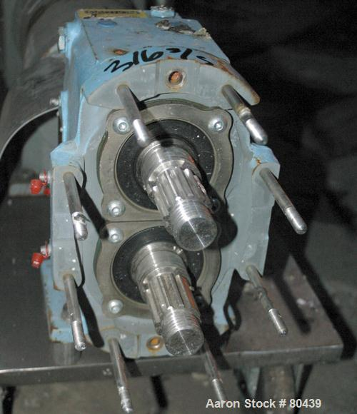 Used: Stainless Steel Waukesha positive displacement pump, model 30