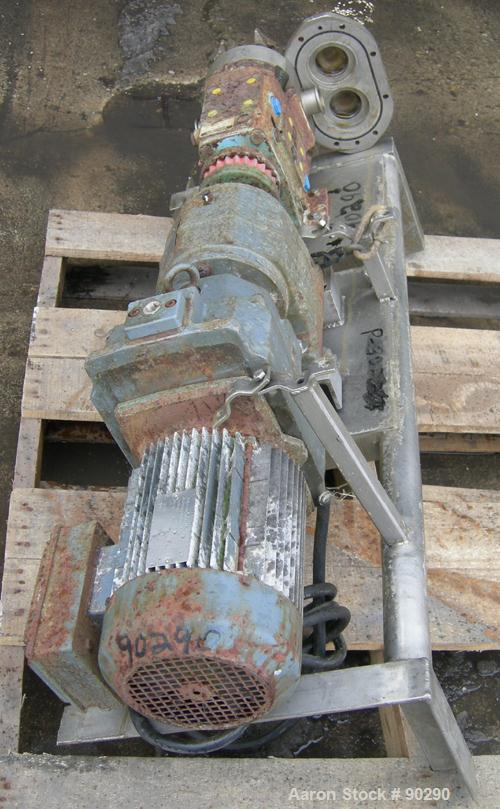USED: Waukesha rotary positive displacement pump, model 030, 316stainless steel. Approximate capacity 36 gallons per minute ...
