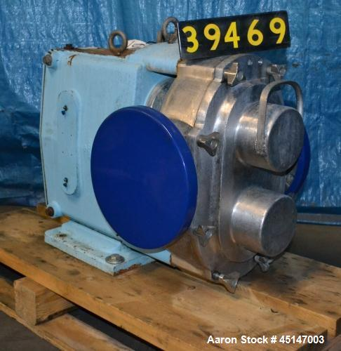 """Used-Waukesha Model 320 Positive Displacement Pump, 6"""" flanged inlet/outlet."""