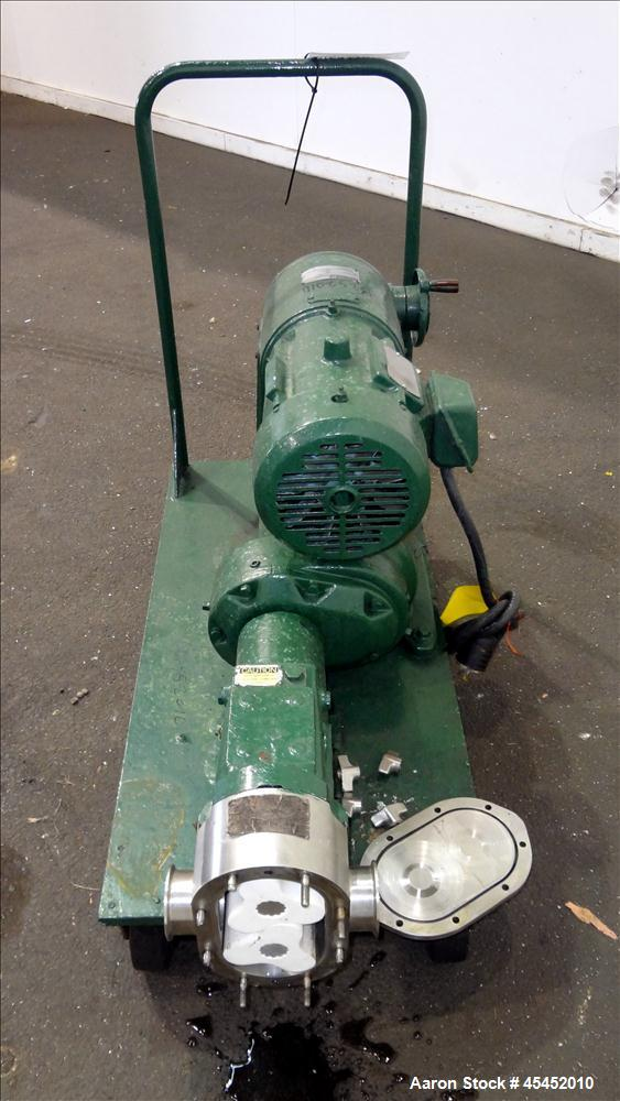 Used- Stainless Steel Waukesha CDL Rotary Positive Displacement Pump, Model 4050