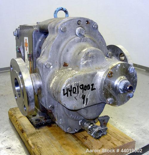 Used- Stainless Steel Waukesha Universal Industrial Rotary Positive Displacement