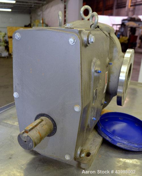 Unused- Waukesha Universal Industrial Rotary Positive Displacement Pump Head Only, Model 5080, 316 Stainless Steel. Approxim...