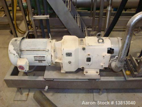 "Used-Waukesha Model 60 Positive Displacement Pump. 2"" inlet and outlet, 7.5 hp motor."