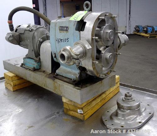 Used- Stainless Steel Waukesha Universal Rotary Positive Displacement Pump, Mode