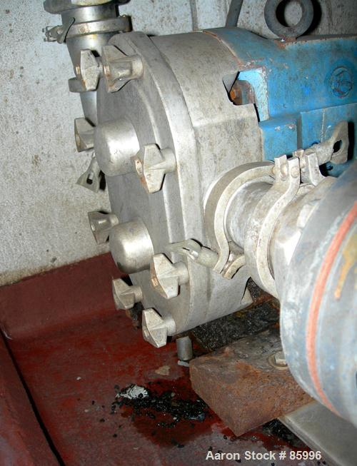 Used: Stainless Steel Waukesha positive displacement pump