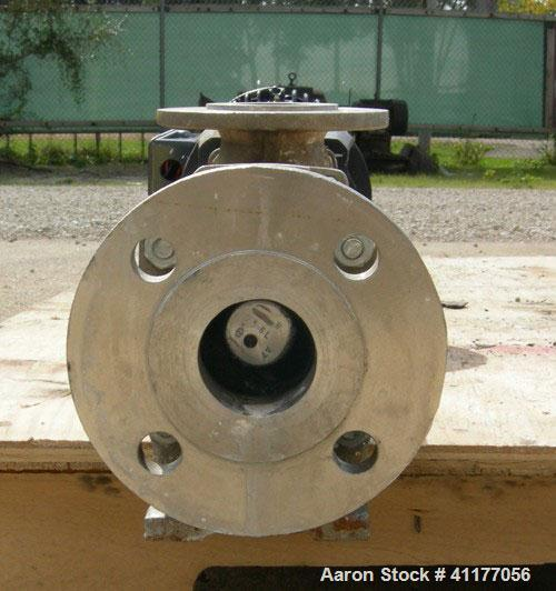 "Used-Seepex single stage progressive cavity pump, 316 stainless steel. Range BN, size 5, pressure stage 6L. 2-1/2"" inlet, 2""..."