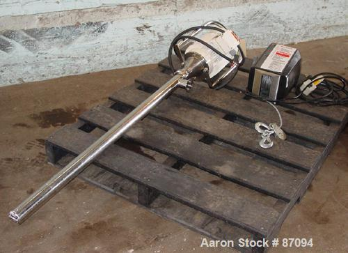 "USED: Flux progressive cavity pump, model TTSE, stainless steel. Approximate 1"" inlet, 36"" long tube. Driven by a 1.5 hp mot..."