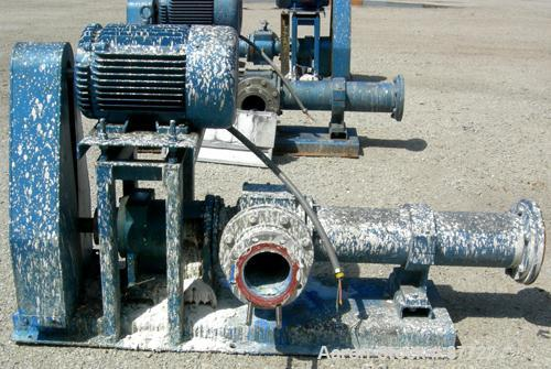 """USED: Moyno Centennial progressing cavity pump, 2 stage, model 2G065G1CDQAAA, cast iron. 8"""" inlet/outlet. Nitrile stator, ap..."""