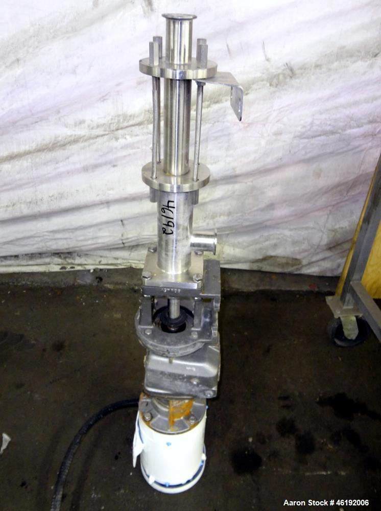 Used- Moyno Sanitary Progressive Cavity Pump, Model Frame FB2A, Type SSE, Trim 3SXA. Approximately 10 gallons per minute. (2...