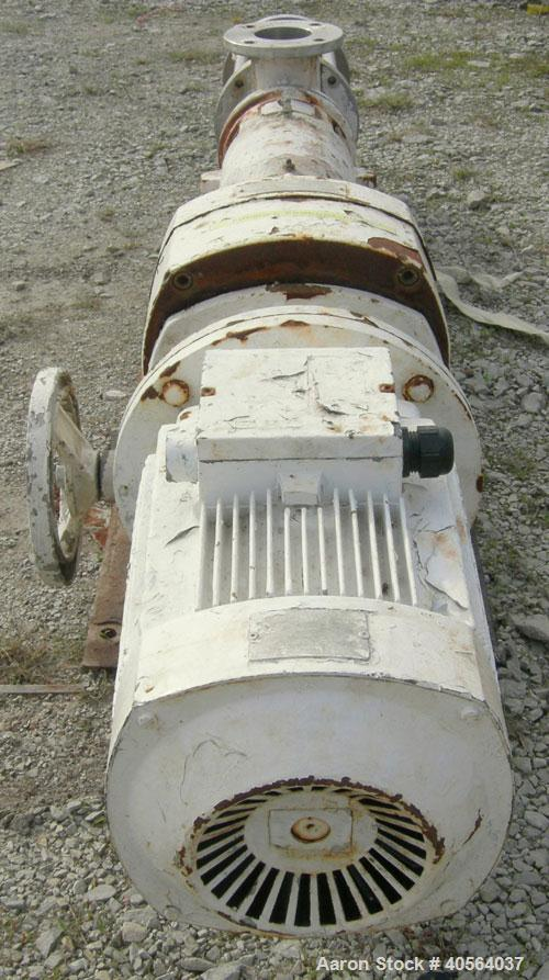 Used- Carbon Steel Del Monte Processing Cavity Pump, model M85