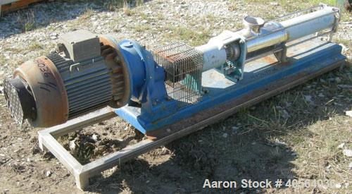 Used- CSF Inox Processing Cavity Pump, Model MAN80-2/AA.T32. carbon steel body, 304 stainless steel rotor, with stator. 4 3/...