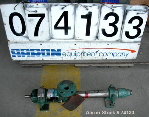 """Used- Moyno Industrial Line Pump, Type AAA, Frame 6M1, 316 Stainless Steel. 1"""" Inlet/outlet. Displacement 5.20 gal/100 rev. ..."""