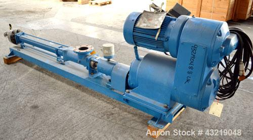 Used- Bornemann Progressive Cavity Pump, Model EP 280.3. Approximate capacity 4.5 to 7.2 cubic meters and hour (19.8 to 31.7...