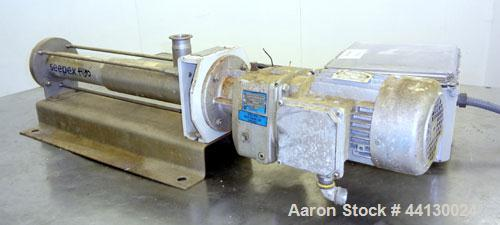 Used- Stainless Steel Seepex Sanitary Progressive Cavity Pump