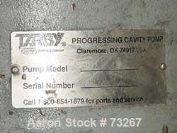 USED- Tarby Progressing Cavity Pump, Model 1TP8-CDB. Single stage, cast iron body, hardened steel internal parts, EPDM (70 D...