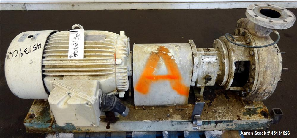 Used- Stainless Steel Griswold Centrifugal Pump, Model A80,