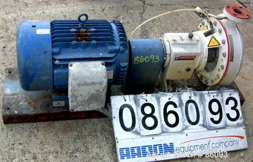"Used- Ahlstrom Centrifugal Pump, Size CPT24.2, Stainless Steel. 3"" inlet x 2"" outlet. Approximately 550 gallons per minute a..."