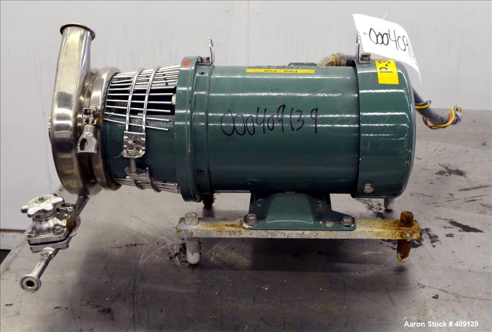 Used- Alfa Laval Centrifugal Pump, Model C216MDG18T-1-20ND-02Y-17SP, 316 Stainless Steel. Approximate 40 gallons per minute ...