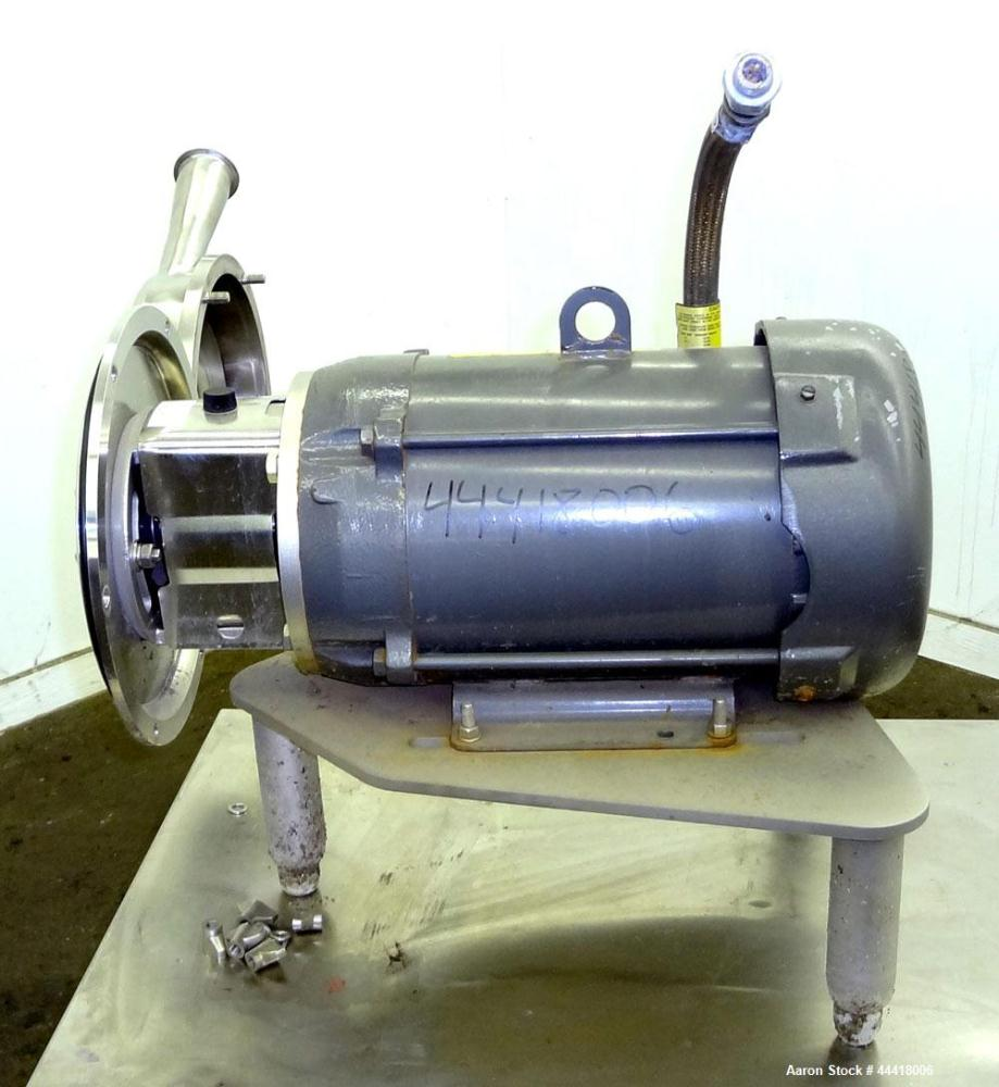 Used- Alfa Laval Centrifugal Pump, Model LKH40-M235D2EN21AAN, 316 Stainless Steel.  Rated approximately 40 gallons per minut...