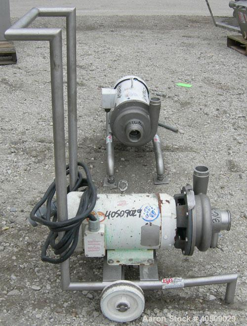 """Used- Ampco Centrifugal Pump, Model DC2 2 1/2X2, 316 stainless steel. 2 1/2"""" tri-clamp inlet, 2"""" tri-clamp outlet. Approxima..."""