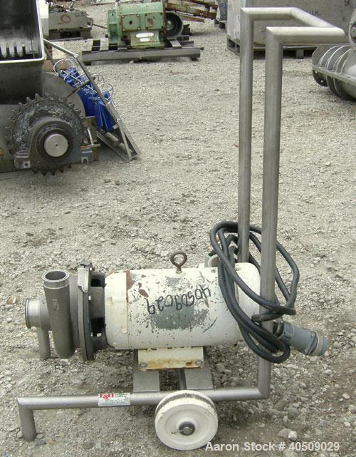 "Used- Ampco Centrifugal Pump, Model DC2 2 1/2X2, 316 stainless steel. 2 1/2"" tri-clamp inlet, 2"" tri-clamp outlet. Approxima..."