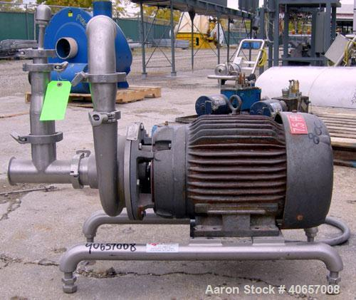 """Used- Ampco Centrifugal Pump, Model DC2 2 1/2X2, 316 Stainless Steel. 2-1/2"""" Tri-clamp inlet, 2"""" tri-clamp outlet. Approxima..."""