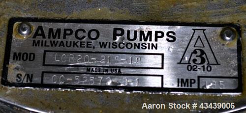 Used- Stainless Steel Ampco Sanitary Centrifugal Pump, Model LCR20-215-18