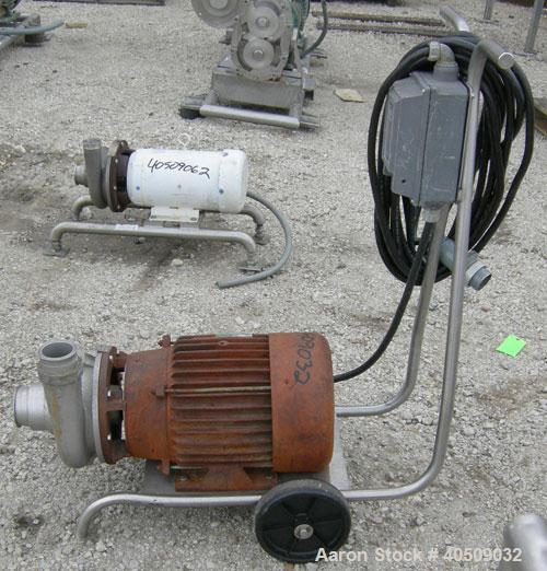 Used- Stainless Steel Ampco Centrifugal Pump, model ZC2 3X2 1/2