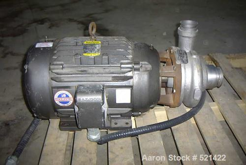 "USED: Ampco/Milwaukee stainless steel centrifugal pump equipped with 3"" inlet, 2-1/2"" outlet, 7"" enclosed impeller, 20 hp 23..."