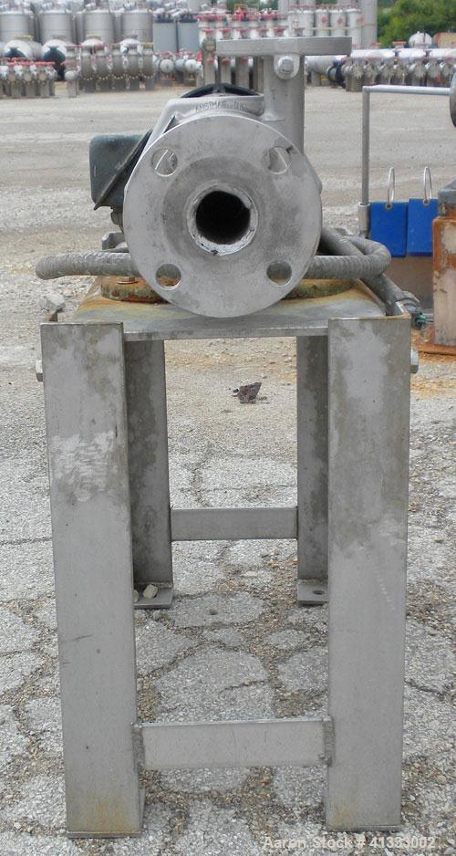 Used- Ansimag Centrifugal Pump, model KM1515-AA, stainless steel. Rated approximately 50 gallons per minute at 10' head. 1-1...