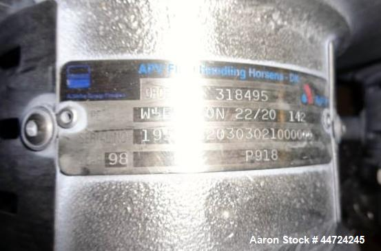 Used- APV type W-Frecon 22/20 stainless steel circulation pump.