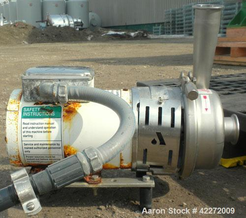 Used- Stainless Steel APV Centrifugal Pump, model W+22/20