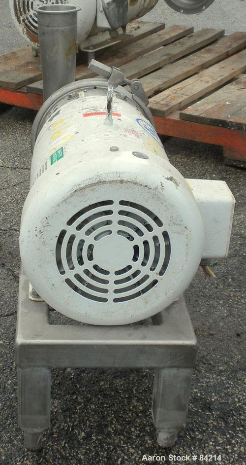 "Used- APV Centrifugal Pump, Model W25/75, 316 Stainless Steel. 4"" Tri-clamp inlet, 3"" tri-clamp outlet, 4-1/2"" diameter impe..."