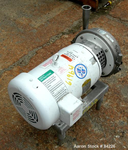 """Used- APV Centrifugal Pump, Model W50/25, 316 Stainless Steel. 2"""" Tri-clamp inlet, 1-1/2"""" tri-clamp outlet. Approximate capa..."""
