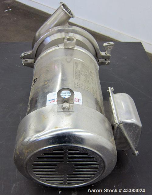 Used- Stainless Steel Cherry Burrell Centrifugal Pump, Model 2065