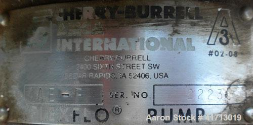 Used- Stainless Steel Cherry Burrell Flexflo Close-Coupled Centrifugal Pump, mod