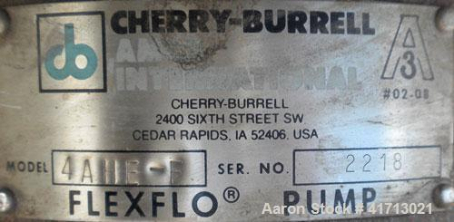 Used- Stainless Steel Cherry Burrell Flexflo Close-Coupled Centrifugal Pump, model 4AHE-F