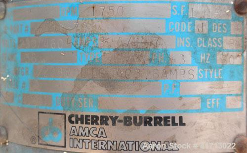 Used- Stainless Steel Cherry Burrell FlexfloClose-Coupled Centrifugal Pump, model 4AHE-F,