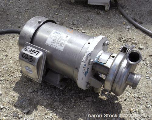 Used- Stainless Steel Cherry-Burrell Flexflo Centrifugal Pump, Model 4AHK-F