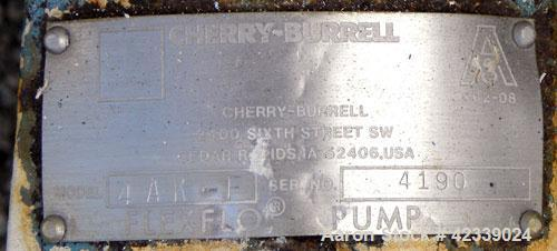 Used- Stainless Steel Cherry-Burrell Flexflo Centrifugal Pump, Model 4AK-F