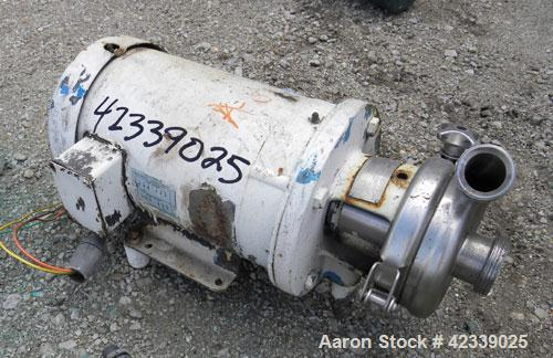 "Used- Cherry-Burrell Flexflo Centrifugal Pump, Model 4AK-F, 316 Stainless Steel. 2-1/2"" Threaded inlet, 2"" threaded outlet. ..."