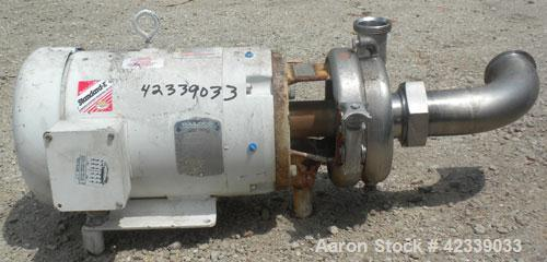 "Used- Cherry-Burrell Flexflo Centrifugal Pump, Model 4BHK-F, 316 Stainless Steel. 4"" Sanitary threaded inlet, 2-1/2"" sanitar..."
