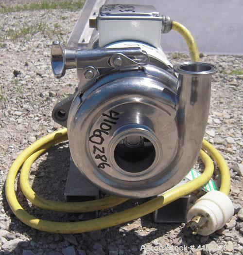 "Used- Cherry Burrell Flexflo Centrifugal Pump, Model VAE-F, 316 Stainless Steel. 2"" tri-clamp inlet, 1 1/2"" tri-clamp outlet..."
