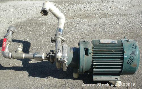 "Used- Cherry Burrell Flexflo Centrifugal Pump, model VAHEB-F, 316 stainless steel. 2-1/2"" sanitary inlet, 1-1/2"" sanitary ou..."